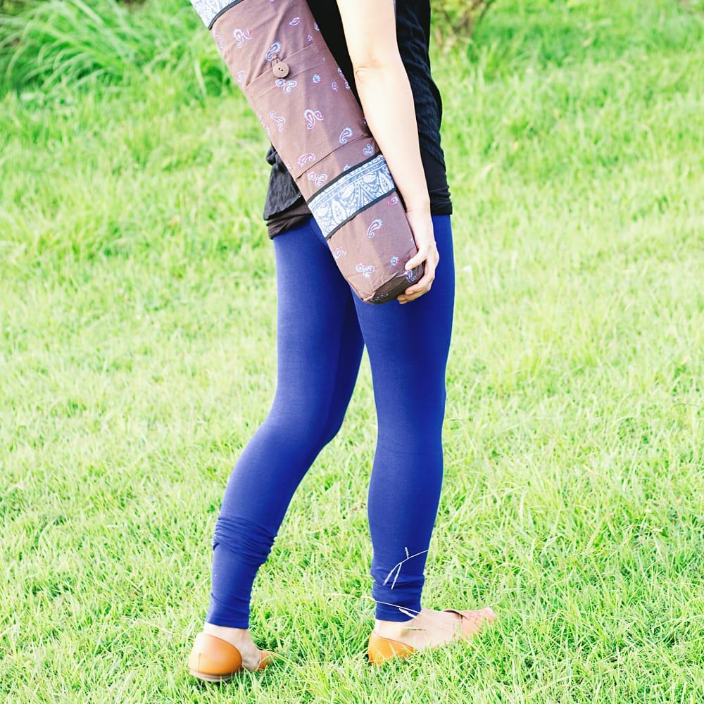 リラックスレギンスパンツ 動きやすく心地の良い軽やかさ 10 - 【選択:L】濃青