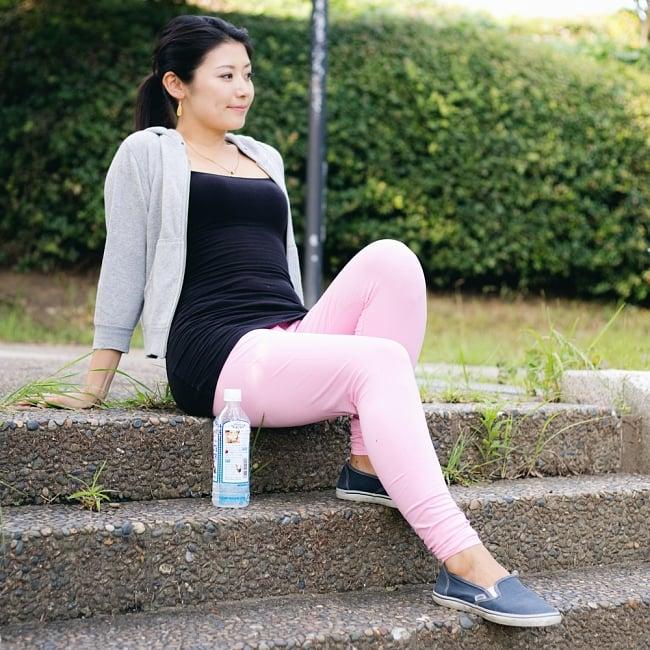 リラックスレギンスパンツ 動きやすく心地の良い軽やかさの写真6 - 運動にもおすすめです 【選択:B】ピンク