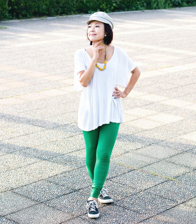 リラックスレギンスパンツ 動きやすく心地の良い軽やかさ 7 - 【選択:H】濃緑