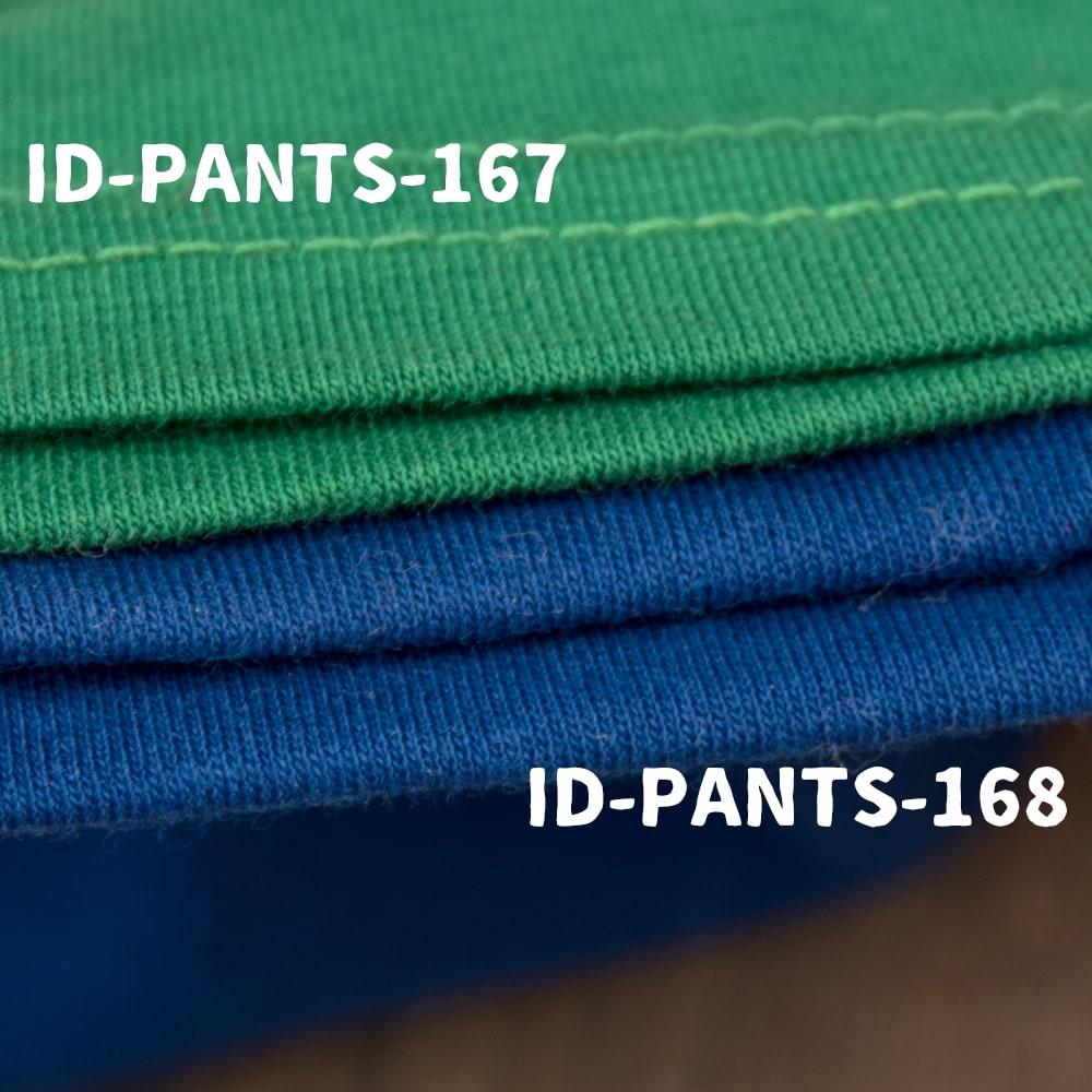 リラックスソフトレギンスパンツ 柔らかな質感が気持ちいい 7 - ID-PANTS-167と比較してみました。ID-PANTS-167よりも厚みのある柔らかい素材感です。