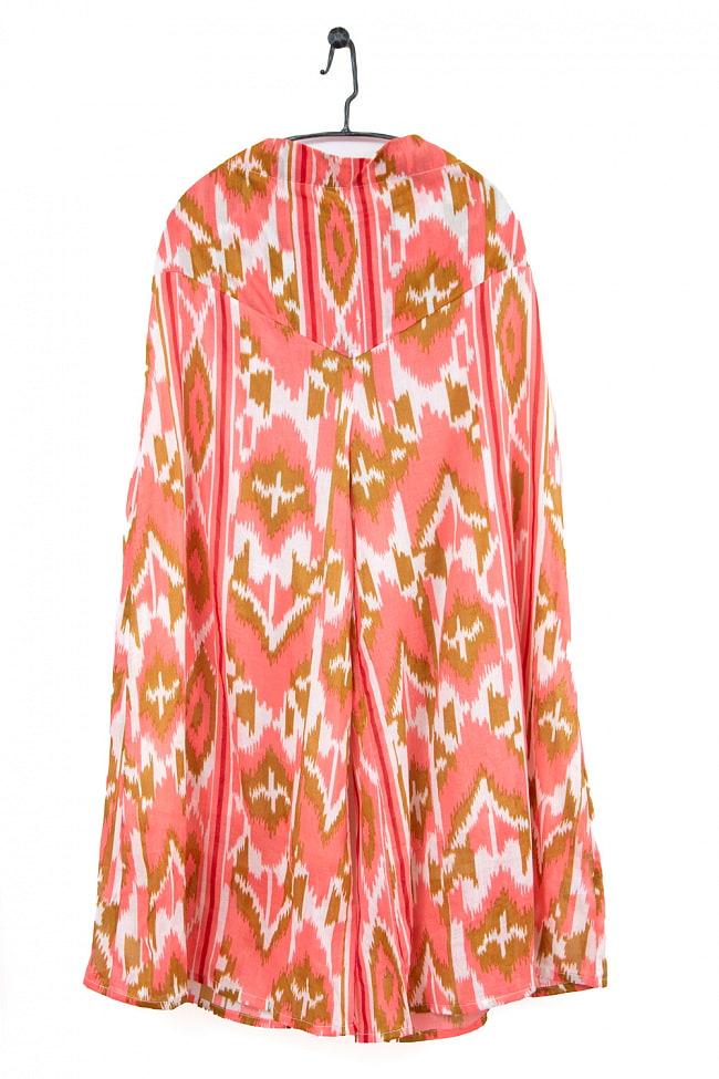絣模様プリントのコットンワイドパンツ 10 - 2:ピンク×白