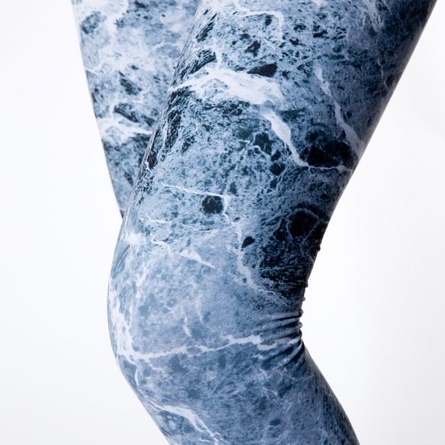 フルグラフィック美脚ヨガレギンス - グラウンジの写真6 - 肌触りの良い生地が使われています