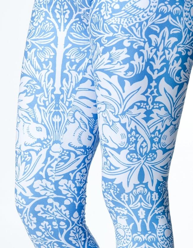 フルグラフィック マンダラ美脚ヨガレギンス - アニマルアラベスク 6 - 肌触りの良い生地が使われています