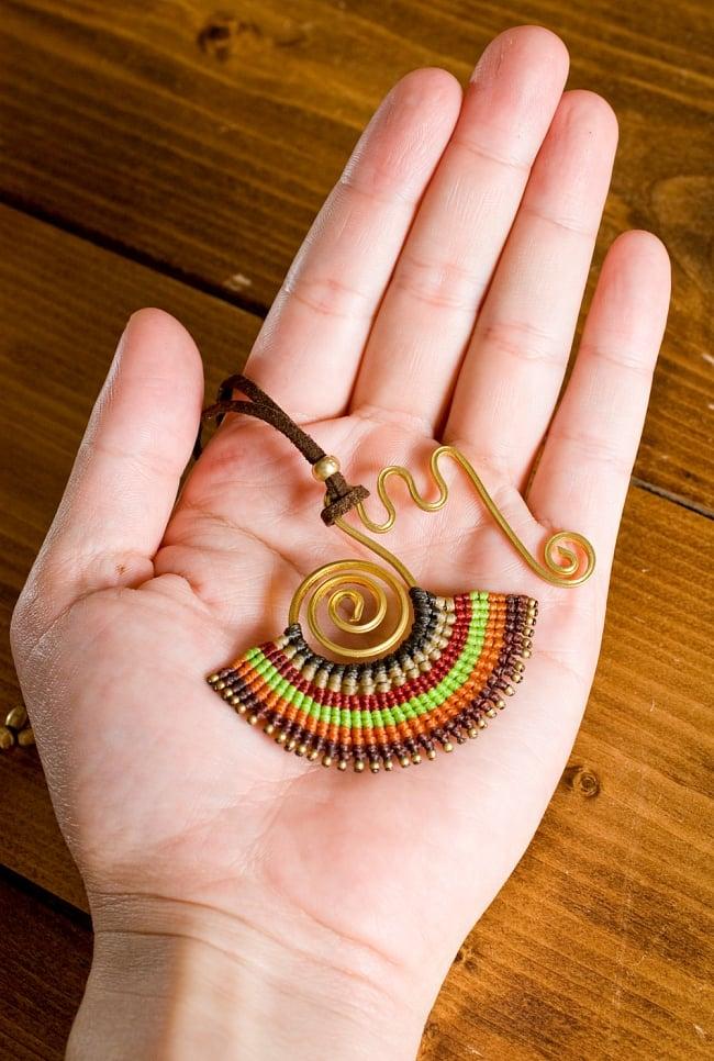 ストリングス・チャンドラネックレス- (アソート) 5 - モチーフ部分のサイズはこのようなサイズです