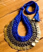 インドのトライバルゴールドネックレス