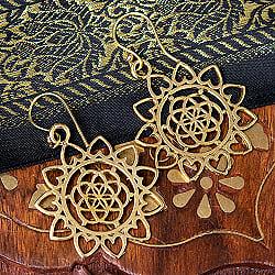 The Seed of Life インドの神聖幾何学模様ピアス