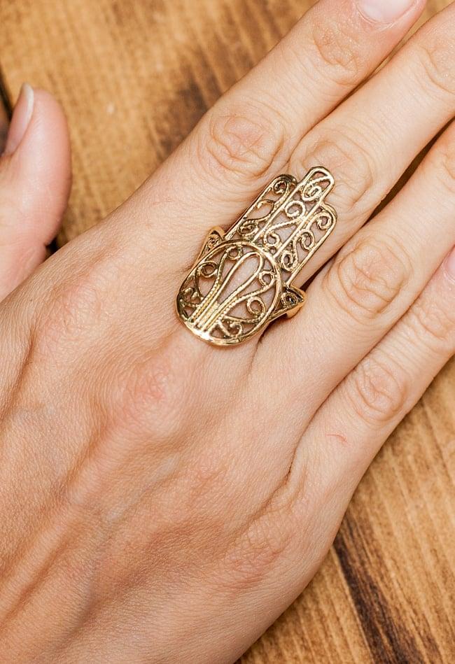 ハムサのゴールドリング 5 - とても可愛らしい指輪です