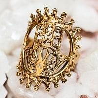 光輪とハムサのゴールドリング
