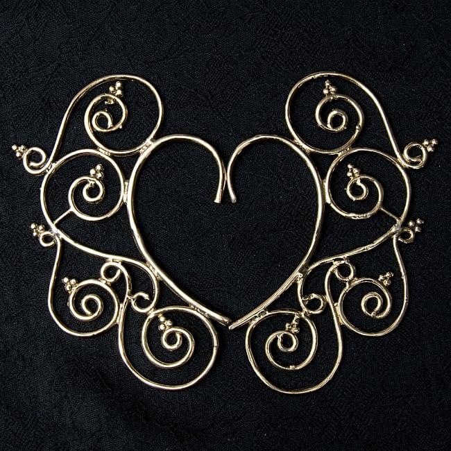 〔両耳ペア〕ゴールデンイヤーカフ【花のつる】 3 - 左右対称のデザインです!