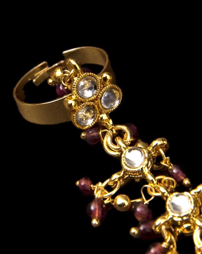 ゴールドパンジャ [3本指] 4 - 指をはめる部分です。指に合わせて調整できるフリーサイズになっています!