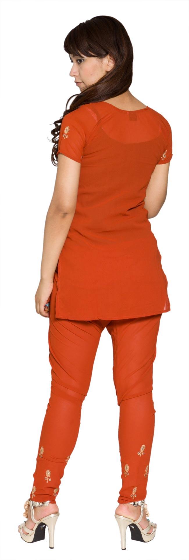 パンジャービードレス3点セット  KIDS 150cm 2 - 後ろ姿です。