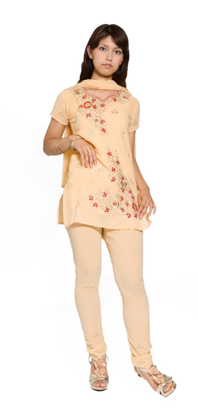 [ショール欠品]パンジャービードレス2点セット KIDS 140cmの写真