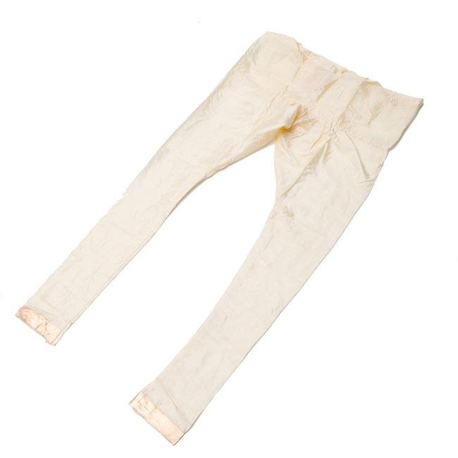 [インド品質]パンジャビ・ドレス3点セット - グリーン 8 - 広げてみました。