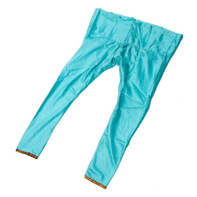 パンジャビ・ドレス3点セット - 青 12 - パンツはこんな形でスッキリしています。
