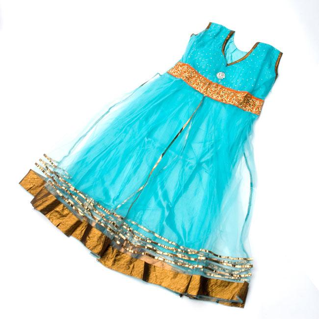 パンジャビ・ドレス3点セット - 青 9 - 広げてみました。(こちらは同デザインの色違いです。)