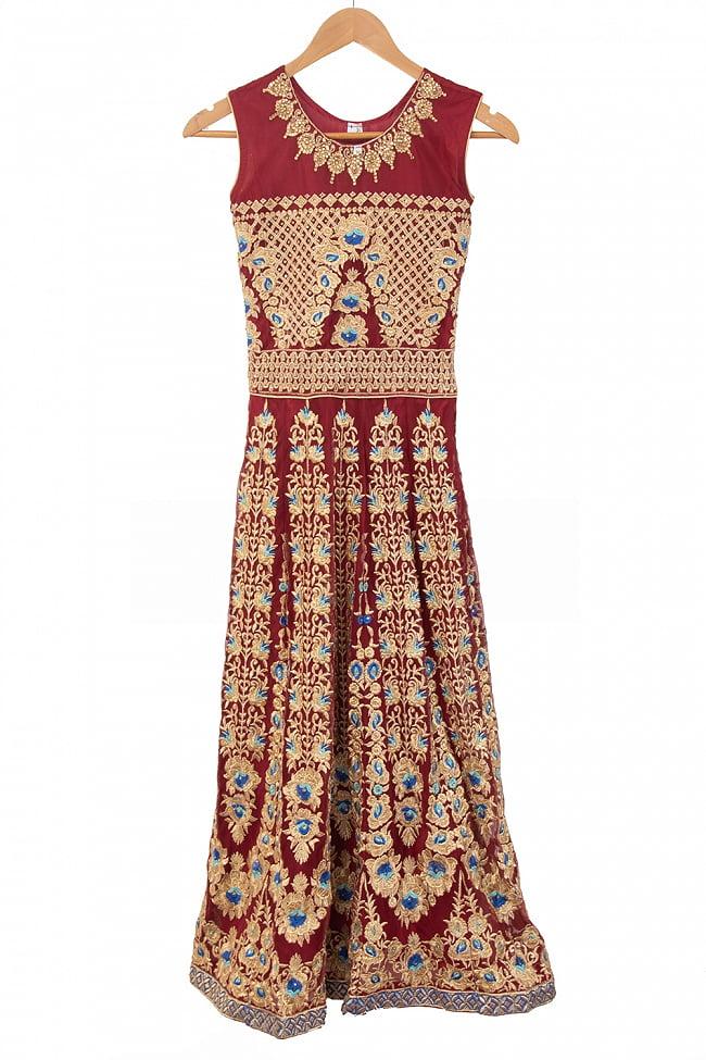 インドのゴージャスパンジャビ・ドレスセット 12 - レッド