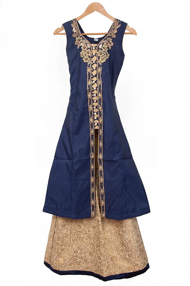 インドのゴージャスパンジャビ・ドレスセット 13 - ブルー
