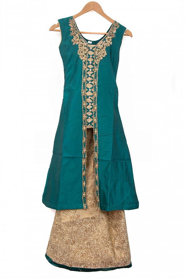 インドのゴージャスパンジャビ・ドレスセット 14 - グリーン