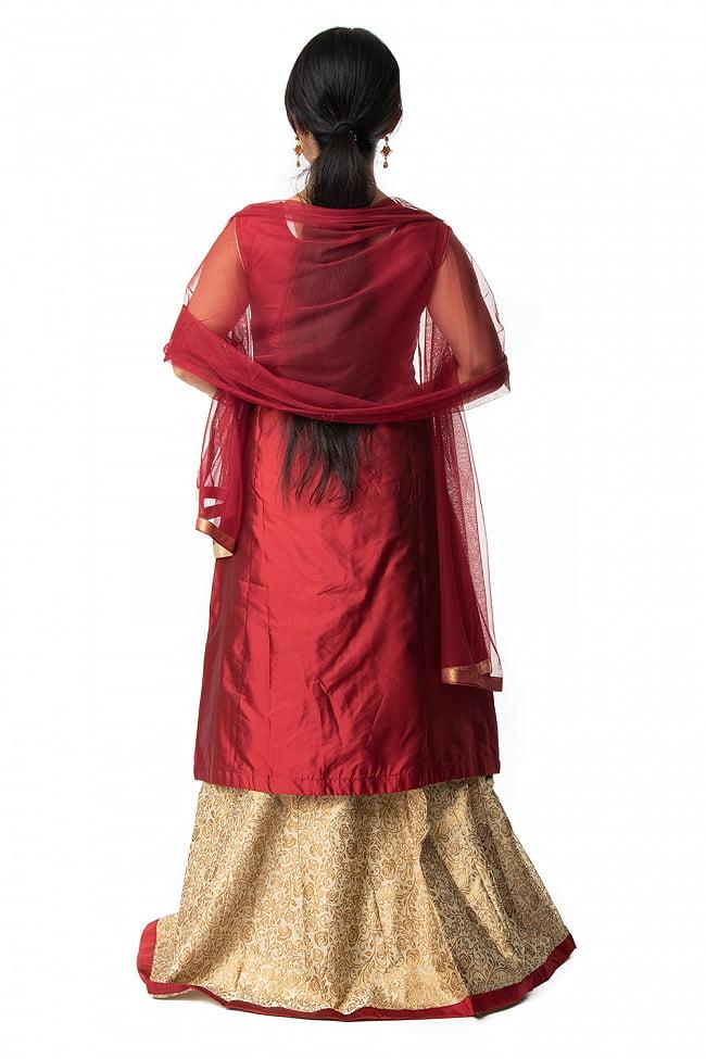 インドのゴージャスパンジャビ・ドレスセット 4 - 違う角度から見てみました。