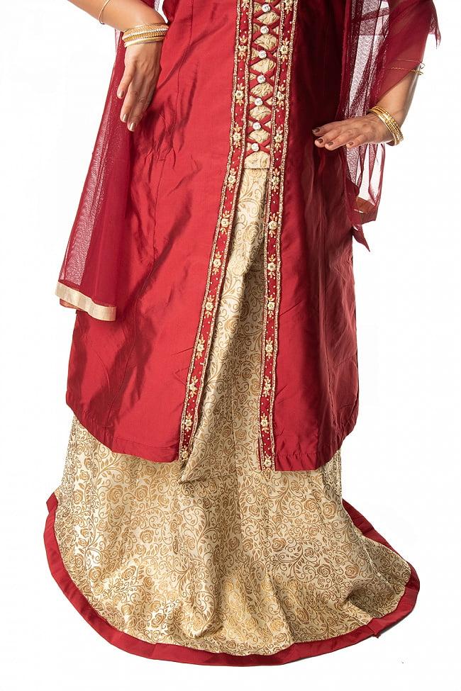 インドのゴージャスパンジャビ・ドレスセット 8 - 腰回りの様子です。