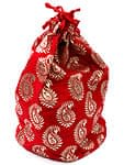 インドのマチ付き巾着[3個セット]