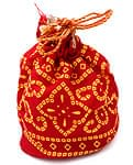 インドのマチ付きミニ巾着[6個セ