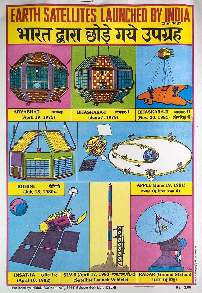 インドの教育ポスターミニ11枚セット No.1 3 - こんなのもあったりしてー。写真は一例です。