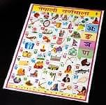 ネパール語のアルファベット - 教育ポスター
