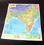 インドの地図(ヒンディ語) - 教育ポスター