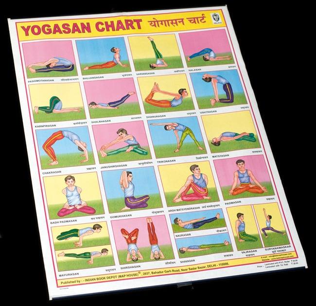 ヨガの体位 - 教育ポスターの写真
