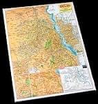 デリーの地図 - 教育ポスター