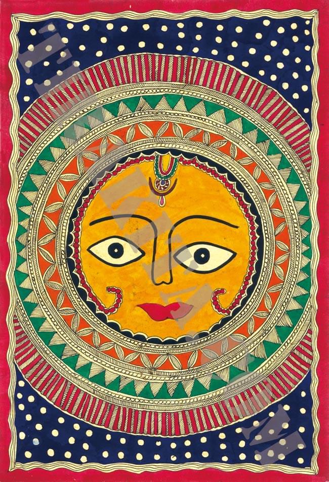 ミティラー画のポスター - スーリャの写真