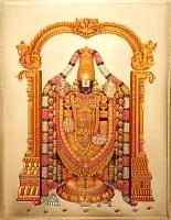 〔約40cm×約30cm〕インドのヒンドゥー神様ゴールドポスター - バラジ 願いの神様