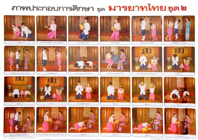 礼儀を教えるポスター - タイの教育ポスターの写真