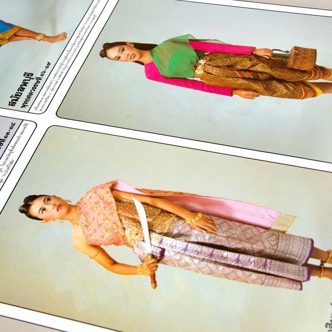 タイ舞踊の衣装 - タイの教育ポスターの写真2 -