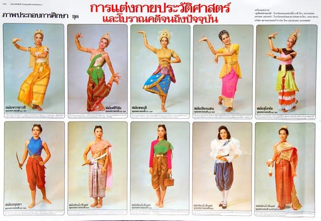 タイ舞踊の衣装 - タイの教育ポスターの写真
