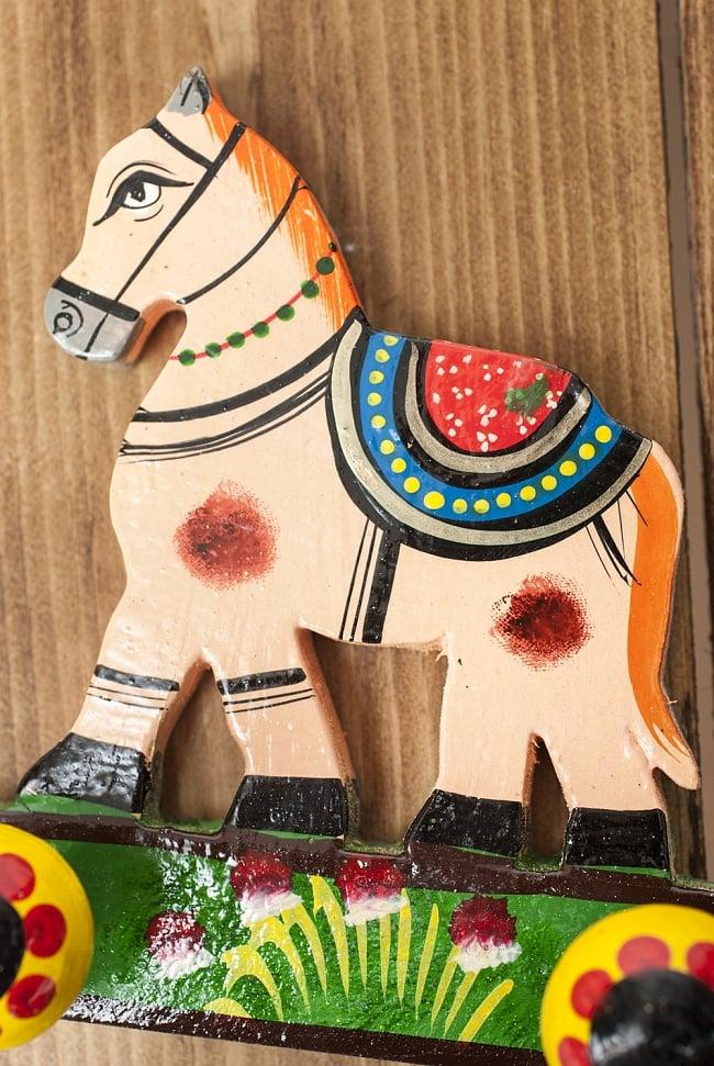 ペイント馬さん壁掛フックの写真2 - キュートなハンドペイントです