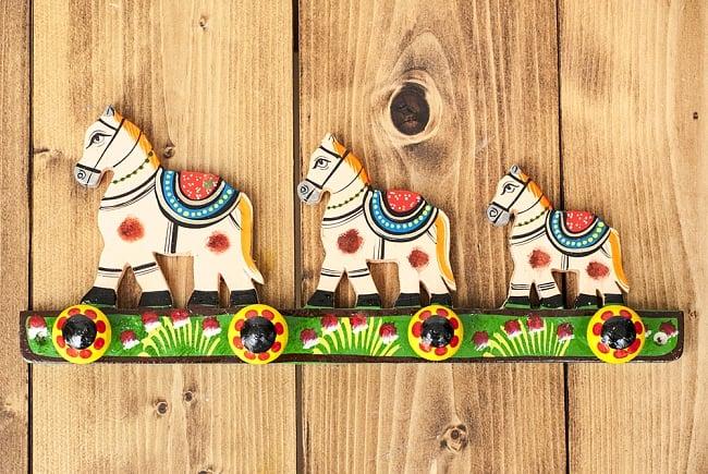 ペイント馬さん壁掛フックの写真5 - 正面から見てみました。