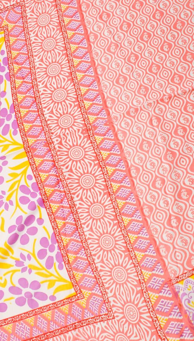 インドサリー【花】 全4色の写真7 - 選択項目のAになります。こちらのお色をご希望の場合は、選択項目よりお選び下さい。