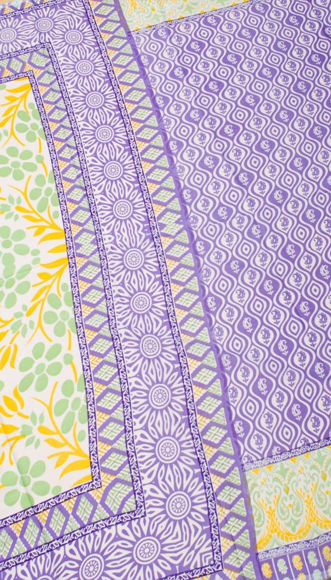 インドサリー【花】 全4色の写真9 - 選択項目のCになります。こちらのお色をご希望の場合は、選択項目よりお選び下さい。