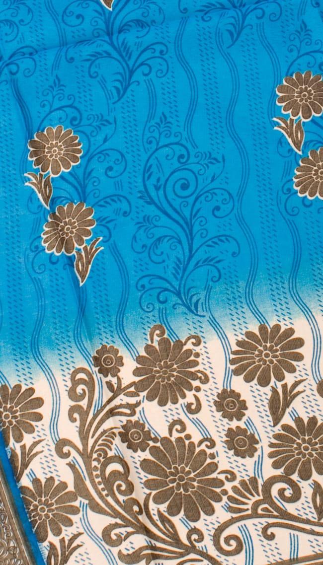 インドサリー【花】 全4色の写真10 - 選択項目のDになります。こちらのお色をご希望の場合は、選択項目よりお選び下さい。