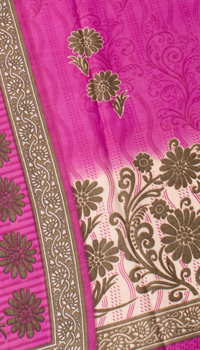 インドサリー【花】 全4色の写真8 - 選択項目のBになります。こちらのお色をご希望の場合は、選択項目よりお選び下さい。