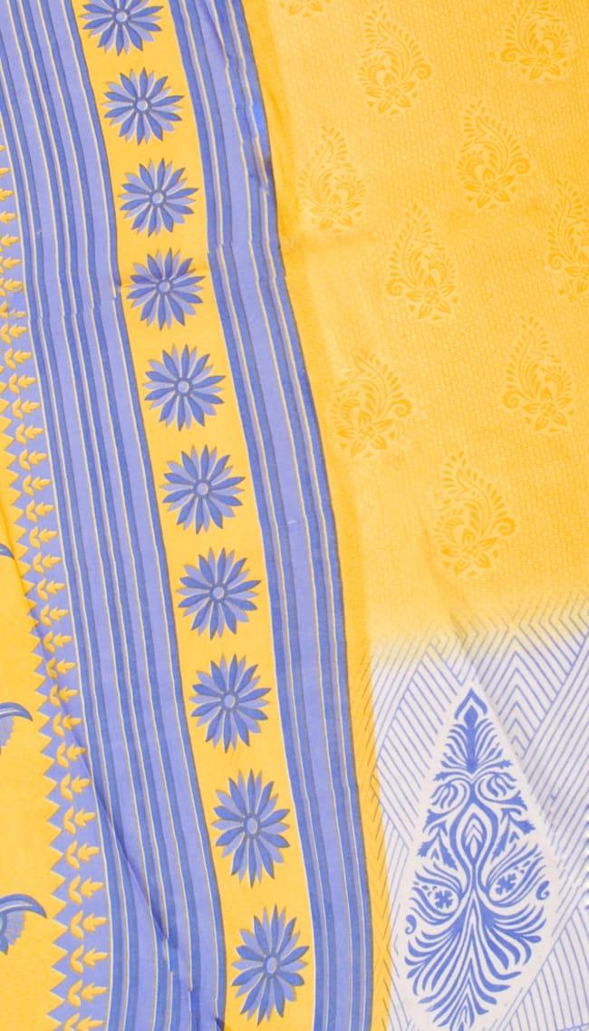 インドサリー【花・ペイズリー】 全4色 10 - 選択項目のDになります。こちらのお色をご希望の場合は、選択項目よりお選び下さい。