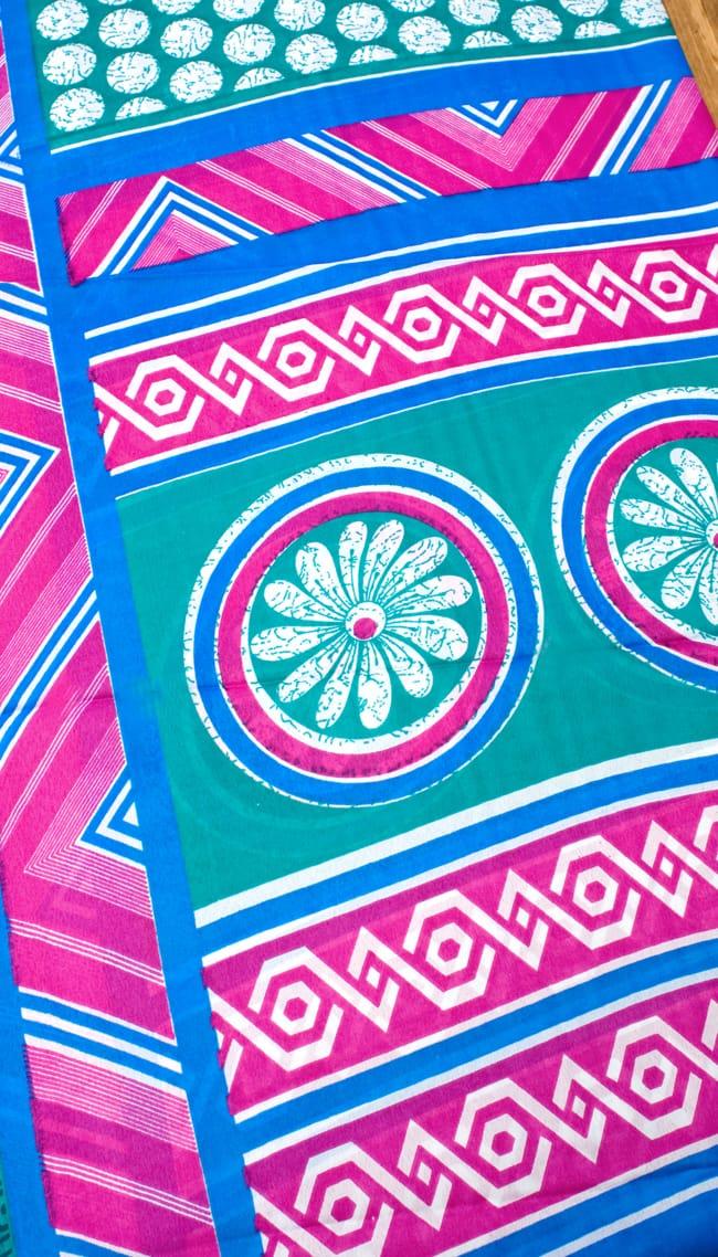 インドサリー【幾何学】 全4色の写真9 - 選択項目のCになります。こちらのお色をご希望の場合は、選択項目よりお選び下さい。