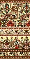 インドの伝統模様 -黄色【ティ