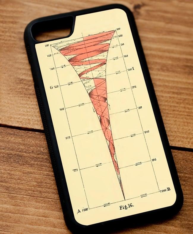心理学と幾何学 視覚化された意識の進化【ティラキタオリジナルiPhoneXケース】 2 - 黒のTPUケースではこのような感じになります。なお、写真はiPhone8用ケースですが、実際にお送りするのはiPhoneX用となります