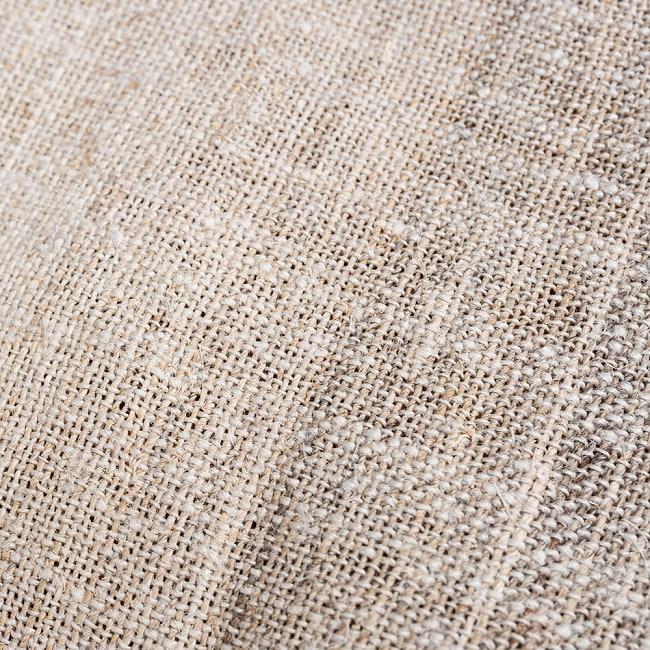 【1m切り売り】ワイルドヘンプの手織り布地 - 幅77cm前後 5 - 手織りのため多少の歪みがあります。