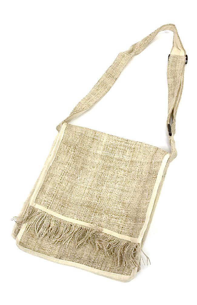 [手芸用]ワイルドヘンプの手織り布地 10 - あなただけのオリジナルアイテムを作るのにお役立てください!