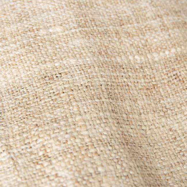 [手芸用]ワイルドヘンプの手織り布地 2 - 近づいて見てみました。