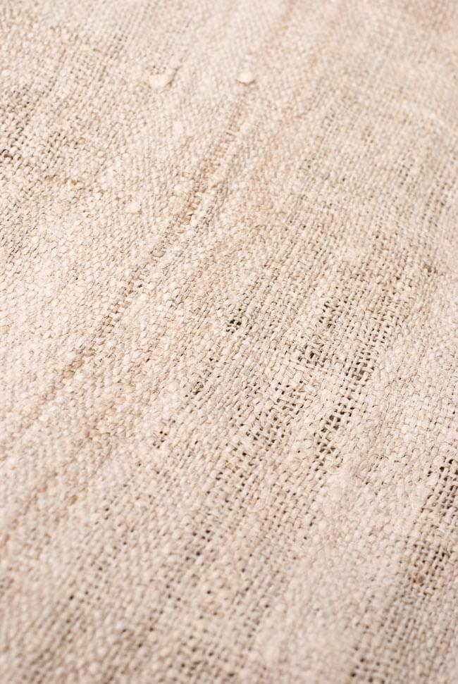 [手芸用]ワイルドヘンプの手織り布地 5 - 少し離れてみてみました。